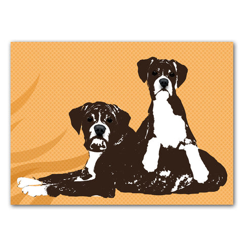 Two boxer dogs - Fine art print