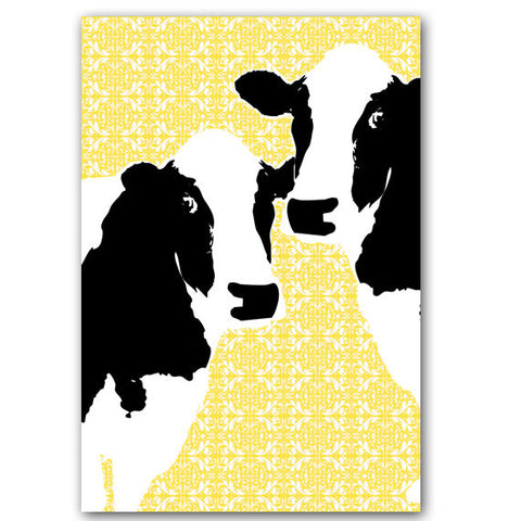 Two cows in love art print
