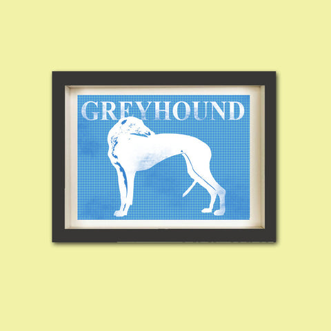 Greyhound Dog Print - Greyhound Silhouette dog lover, pet, silhouette, coursing game, racing dog, fine art print