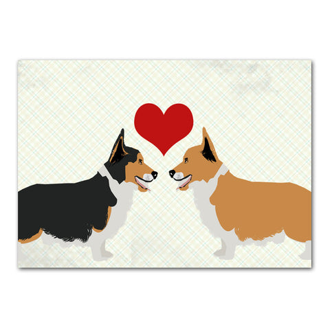 Corgis In Love Dog Art Print