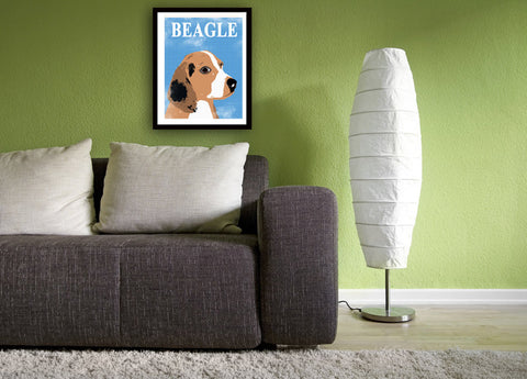 Tri coloured Beagle Dog - Fine art print, Beagle art , tri coloured beagle