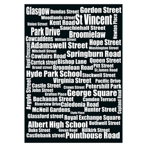 Typography of Glasgow City's Street Names