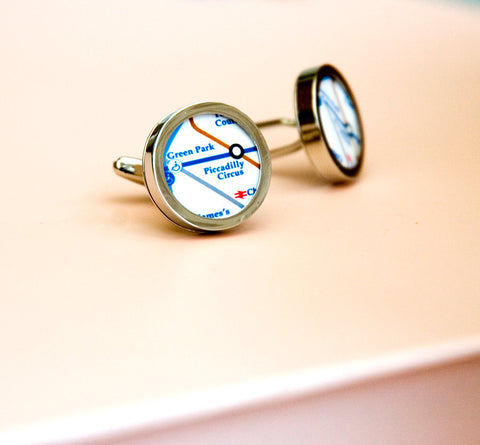 London Underground Cufflinks -  mens cufflinks, cufflinks for Dad, Husband, Wedding gift, novelty cufflinks