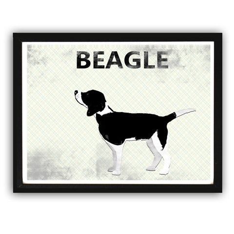 Beagle Dog - Fine art print, Dog collection, Beagle art, dog art, Beagle silhouette black and white dog art
