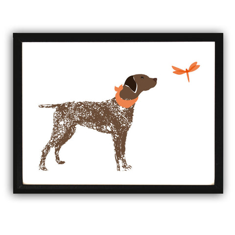 German Shorthaired Pointer Dog - Fine art print, german shorthaired pointer art, dog illustration