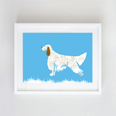 English Setter Dog Art - Wall art, english setter print, Dog breed, setters