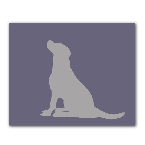 Slate Labrador Retriever Dog - Art Print