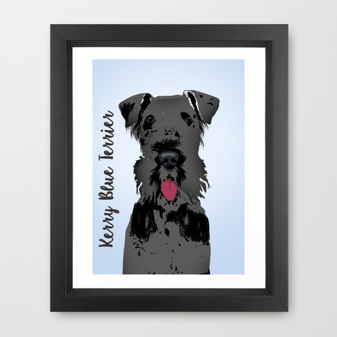 Kerry Blue Terrier Dog - Fine Art Print, dog art, Kerry Blue Terrier dog, portrait