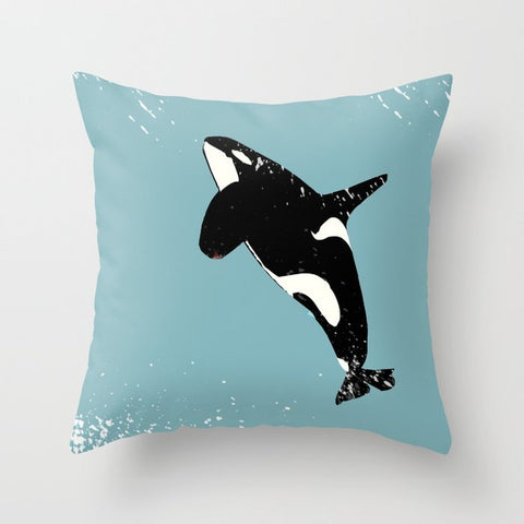 Killer Whale on Cushion Cover