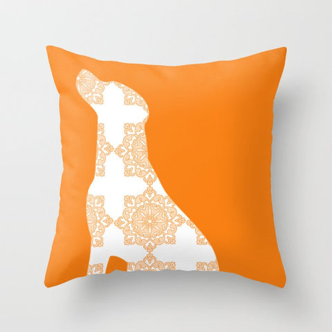Orange Labrador Dog Cushion Cover