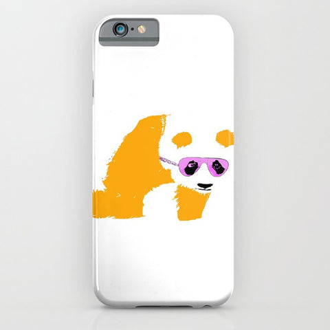 Panda with sunglasses on phone case
