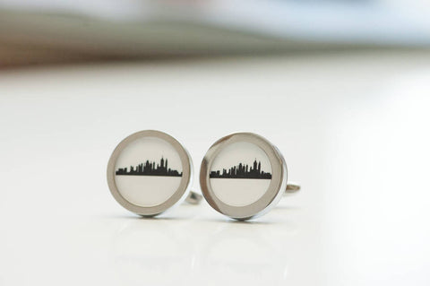 New York City skyline on Cufflinks