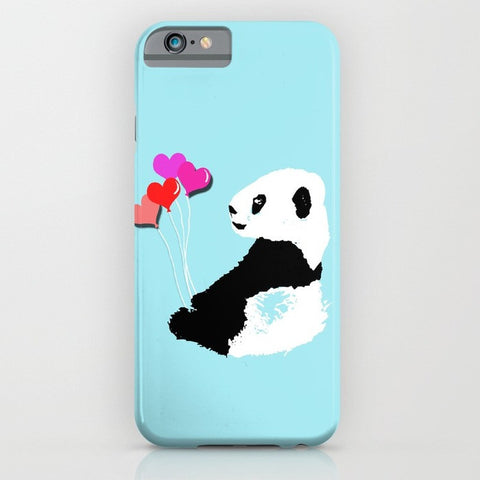 Panda with balloons on phone case