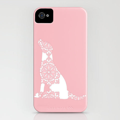 Labrador retriever dog a on pink phone case