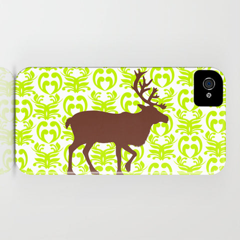 Brown Reindeer on Phone Case