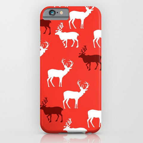 Red Reindeer on Phone Case