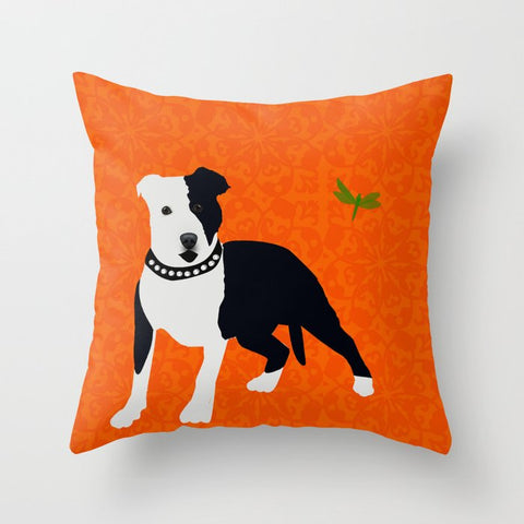 Staffordshire Bull terrier Dog on Cushion Cover