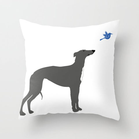 Whippet on Cushion Cover- Cushion, Cushions covers, Gift For Whippet , Lovers, Dog Art Prints