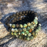 Star Cut African Turquoise Lava Bead Diffuser Bracelet