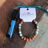 Amazonite Bracelet with Peace Touch