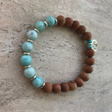 Amazonite Tree of Life Diffuser Bracelet