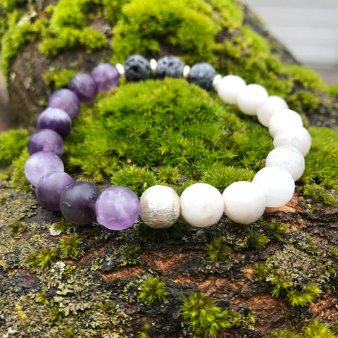 Cape Amethyst & Agate Harmony Diffuser Bracelet