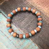 Rainbow Amazonite & Bayong Wood Diffuser Bracelet from The Austin Bracelet Company