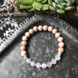 Star Cut Amazonite or Amethyst Diffuser Bracelet
