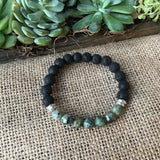 African Turquoise Diffuser Bracelet from The Austin Bracelet Co.