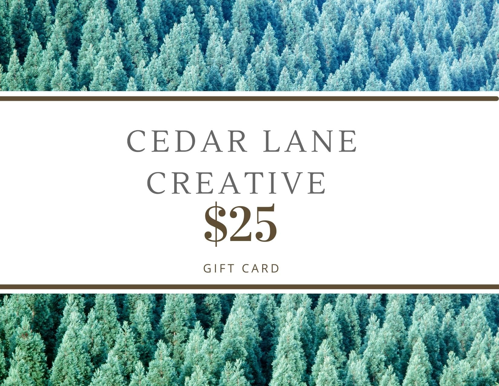 Cedar Lane Creative Gift Card