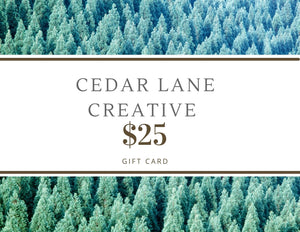 Open image in slideshow, Cedar Lane Creative Gift Card