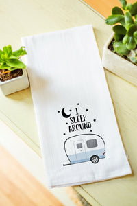 Tea Towel - I sleep around camper