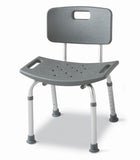 Guardian Aluminum Bath Benches with Back