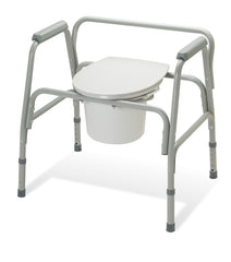 Extra-Wide Commode with 400 lbs Weight Capacity