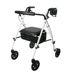 Luxe Rollator, White