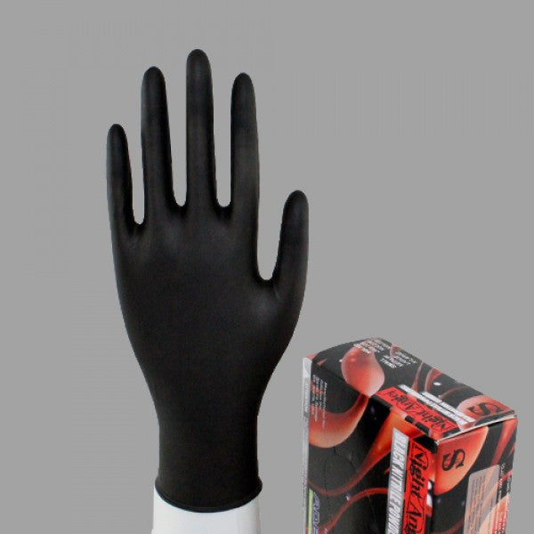 Nitrile Powder Free Exam Gloves, Black Color