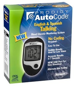 Prodigy AutoCode® talking blood glucose meter