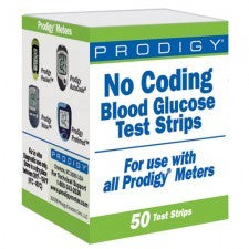 Prodigy No Coding Blood Glucose Test Strips