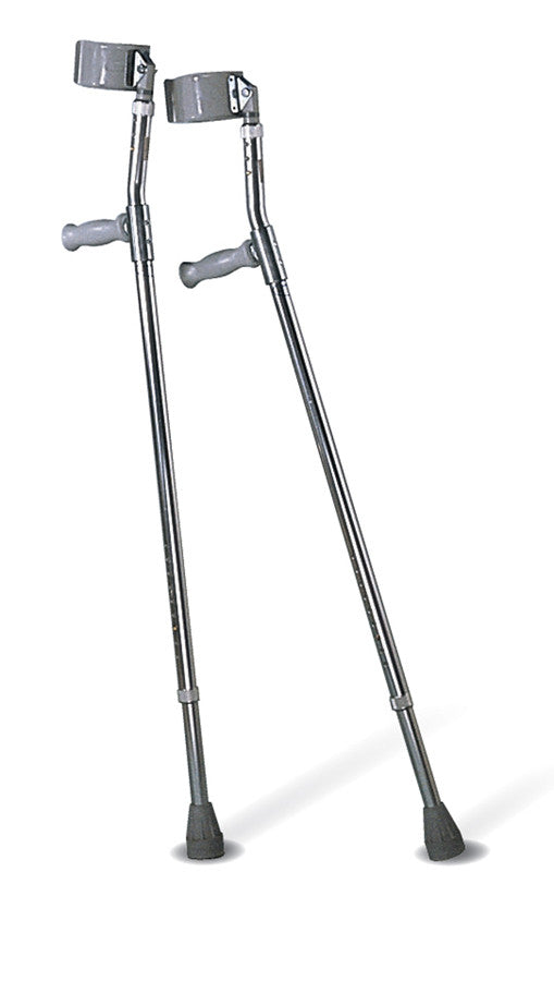 Crutch XL Super Replacement Tip, Gray [CASE of 6 Pair]