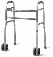 "Bariatric Folding Walker with 5"" Wheels"