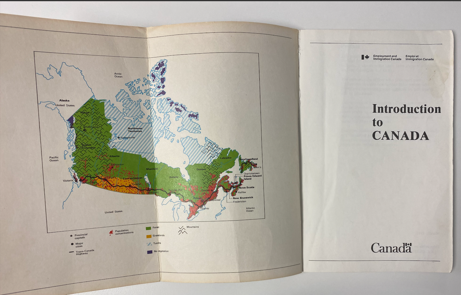 Introduction to Canada Booklet given to Andrzej once he was permitted to come to Canada