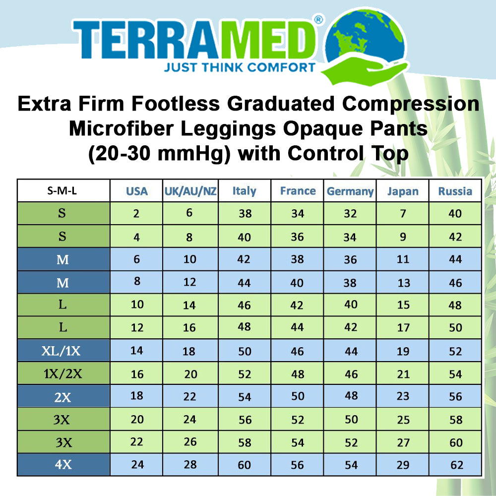 4911b7f31 Terramed Extra Firm Opaque Compression Stockings Pantyhose Open Toe - Firm  Medical Graduated Support 20-