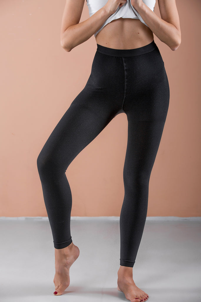 Terramed Advanced Graduated Compression Leggings Women 20-30mmhg Footless Microfiber Leggings Tights - Terramed.info