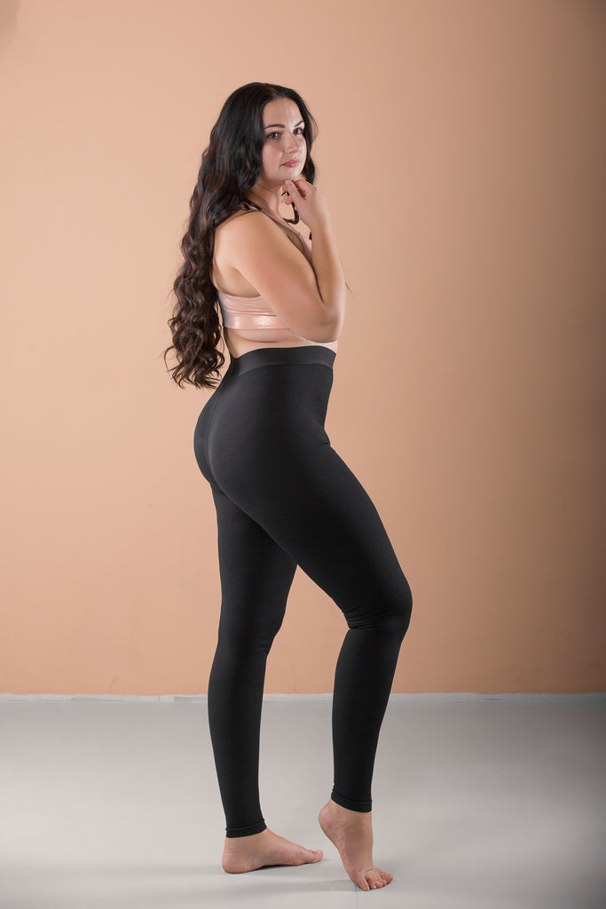 Opaque Graduated Compression Extra Firm Support Plus Size Microfiber Leggings with Control Top - Terramed.info