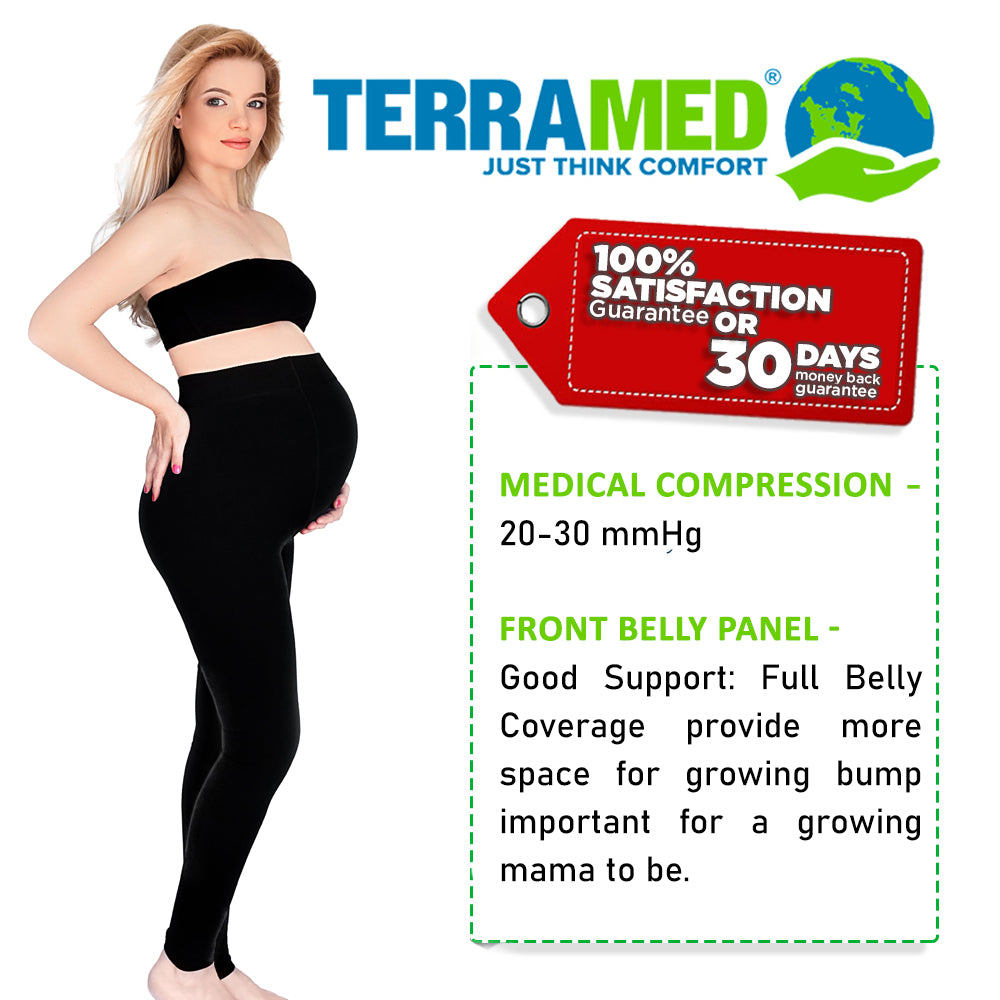 Maternity Leggings Compression Stockings | Microfiber Over The Belly