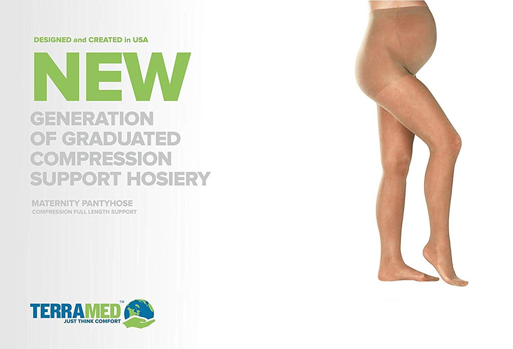 Terramed Graduated Firm Sheer Medical Compression Maternity Pantyhose (20-30 mmHg) - Terramed.info