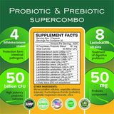 50 Billion CFU Prebiotic & Probiotic Supplement for Women and Men, 12 Strains For Daily Immune Support And Digestive Health, 30 Non Refrigerated Vegetarian Capsules, High Potency SUPERCOMBO Probiotics - Terramed.info