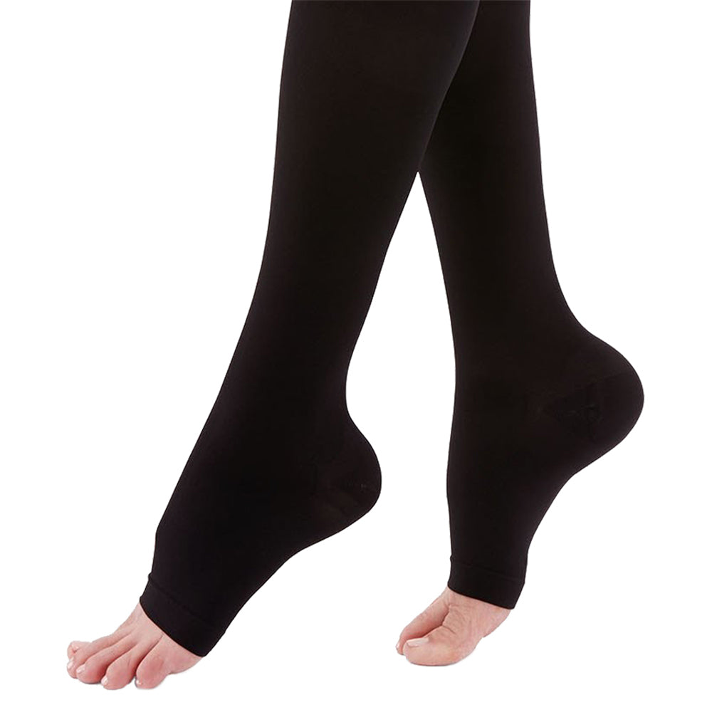 Terramed Extra Firm Opaque Compression Stockings Pantyhose Open Toe