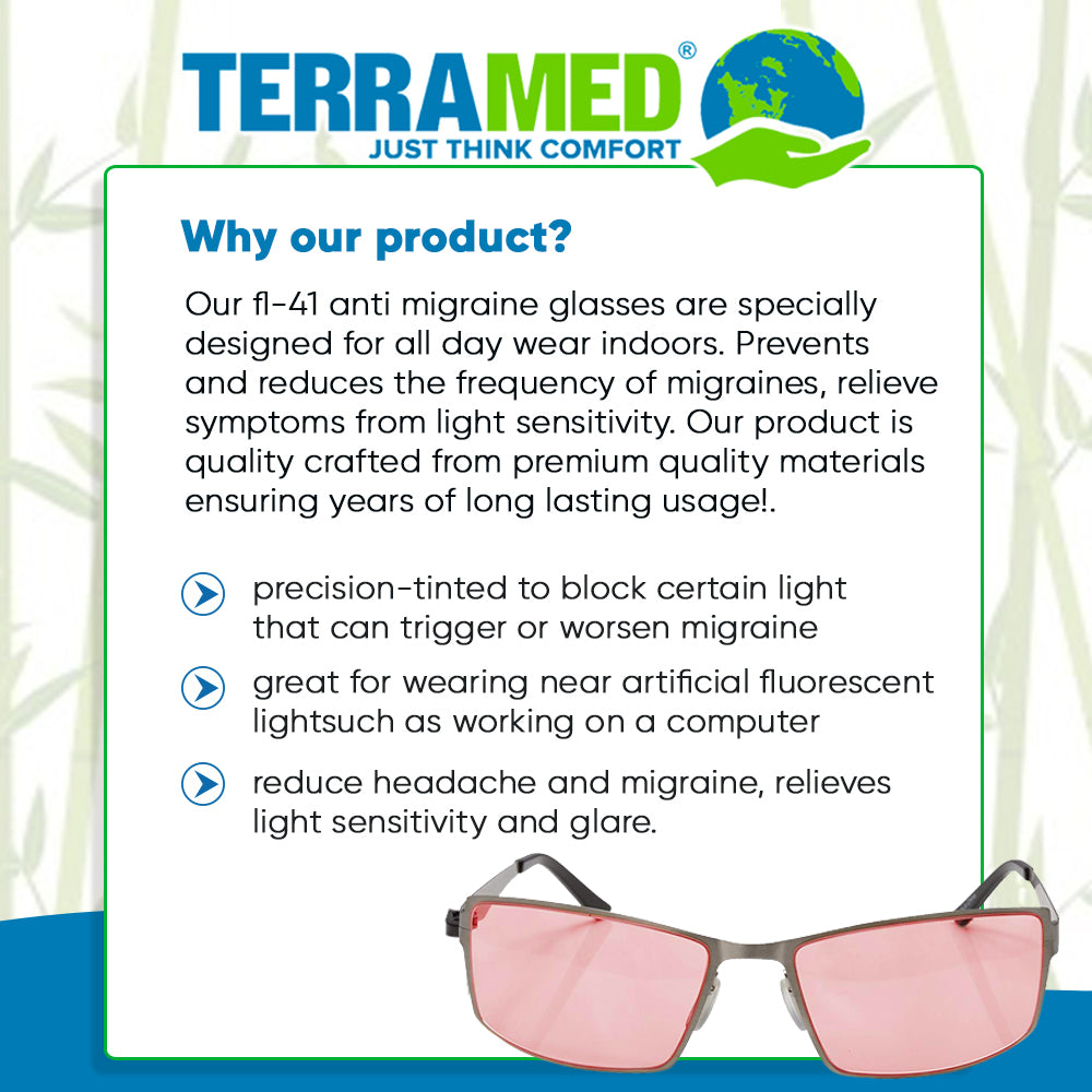 Terramed Sparrow Mercury Unisex Glasses for Migraine Relief and Light Sensitivity Relief - Terramed.info