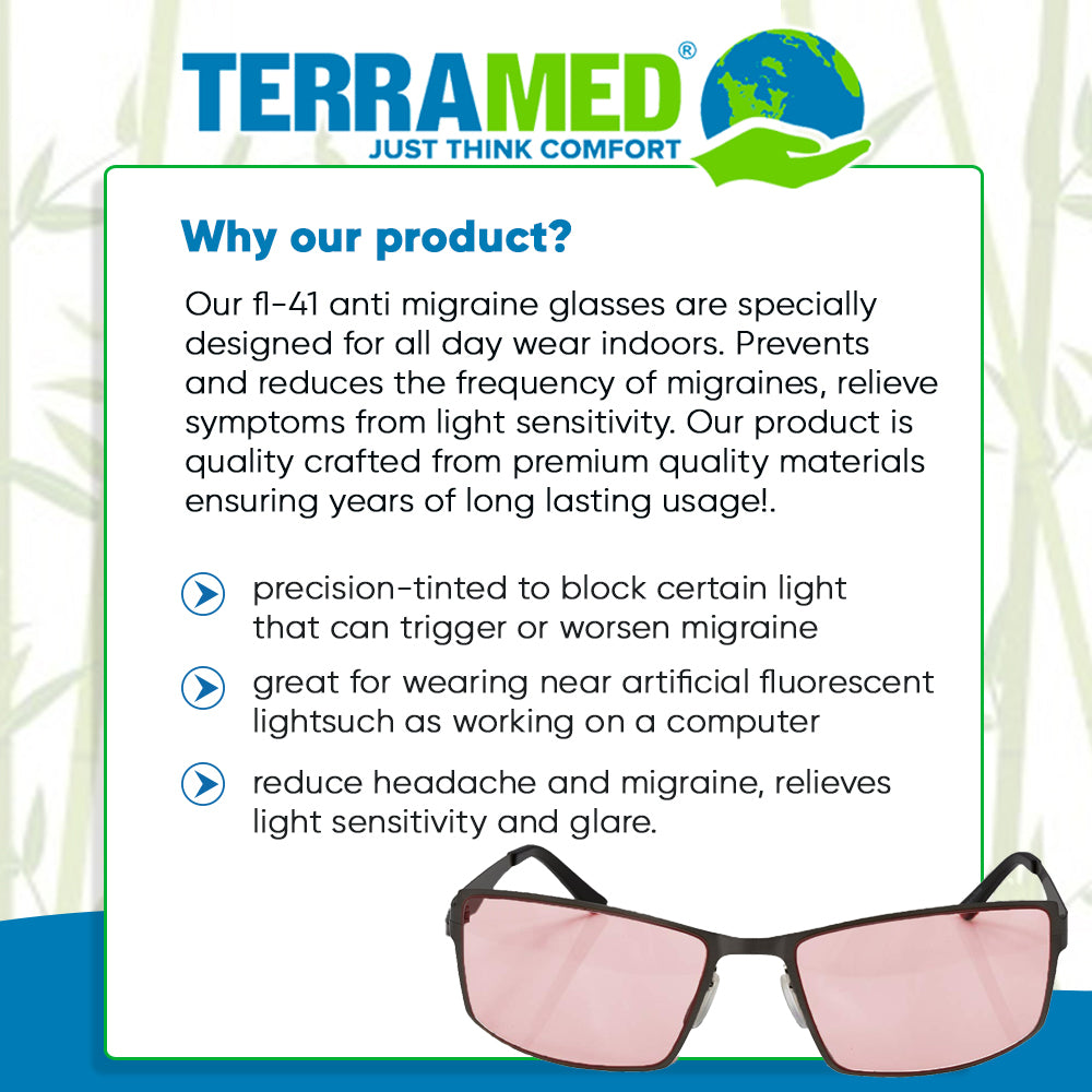Terramed Sparrow Graphite Unisex Glasses for Migraine Relief and Light Sensitivity Relief - Terramed.info